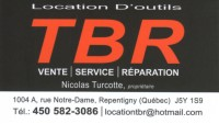 Location d'outils TBR